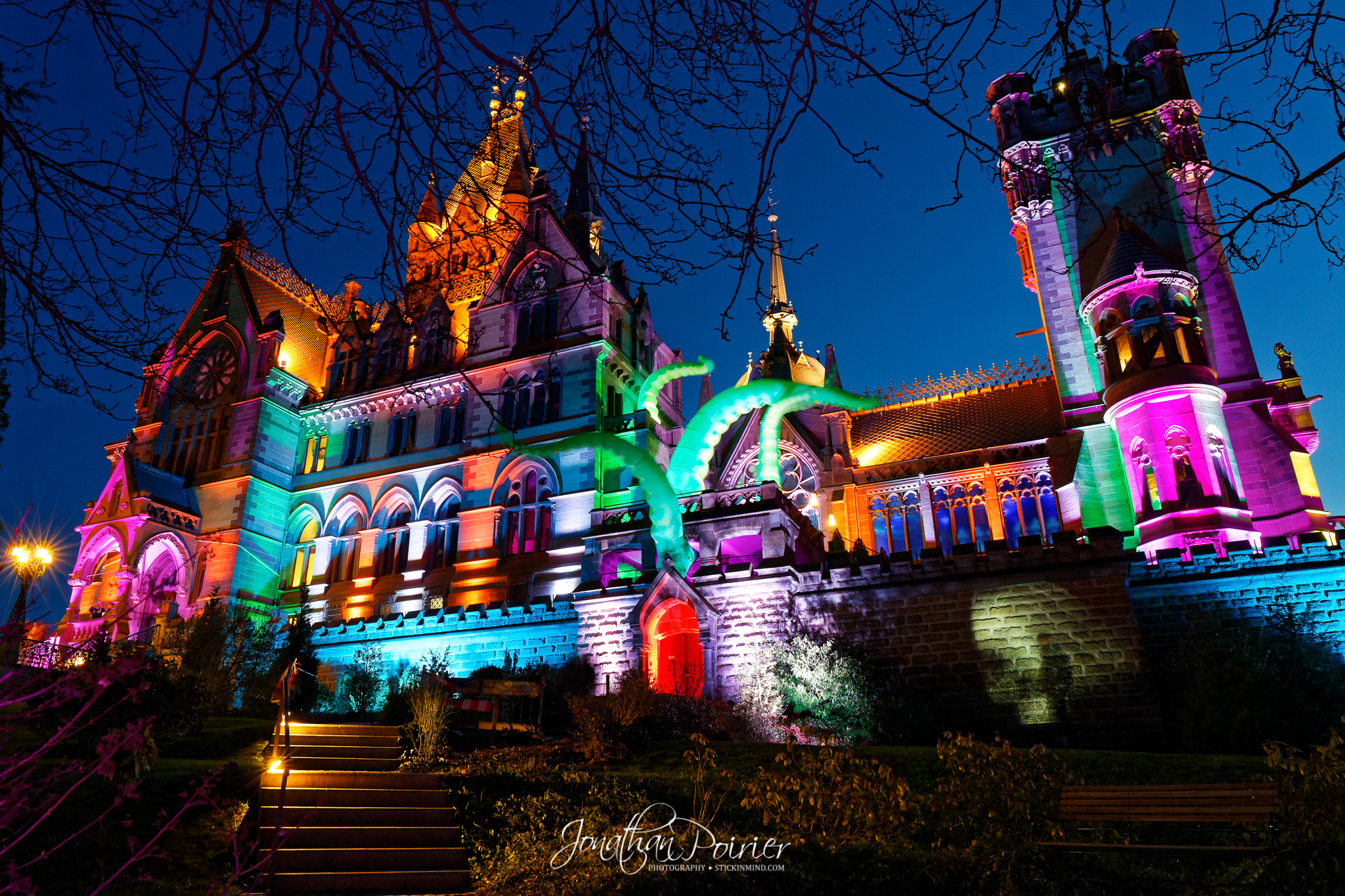 Castle Drachenburg light show